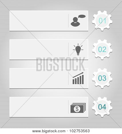 Modern design templates, can be used for infographics, numbered