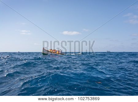 Boat With Tourists