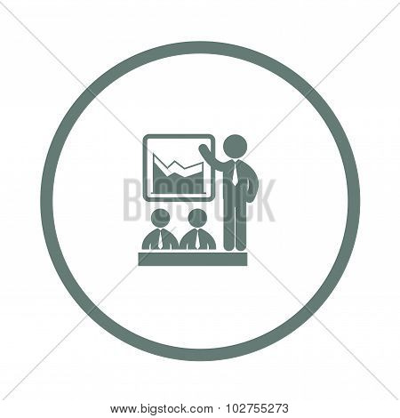 Businessman Presenting During A Business Meeting Icon - Data Analysis Meeting Icon