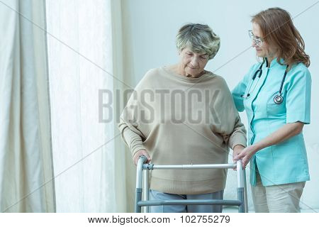 Helping Old Patient