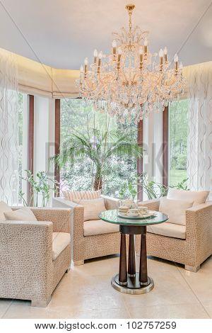 Elegant Armchairs In Living Room