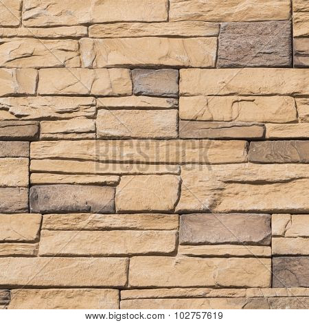 Wall Of Brown Artificial Stone