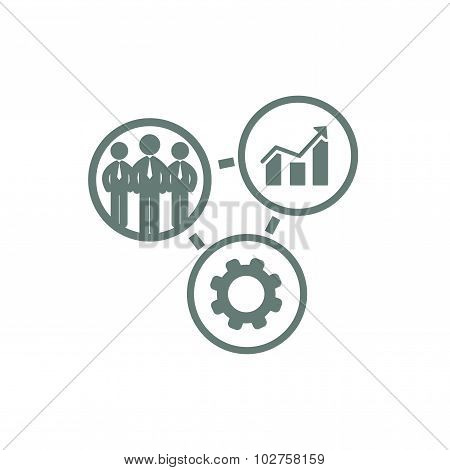 Business Icon - Process Of Development And Production Icon