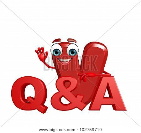 Cartoon Character Of Alphabet V With Q And A