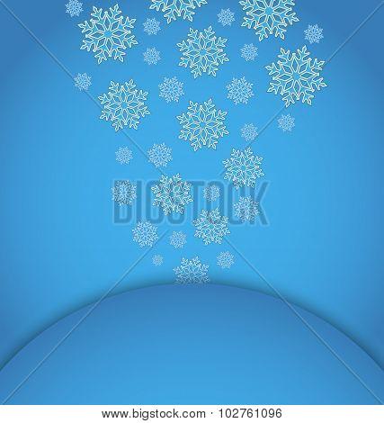 Christmas applique with set snowflakes