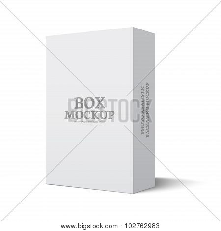 Package box illustration mockup template isolated on white