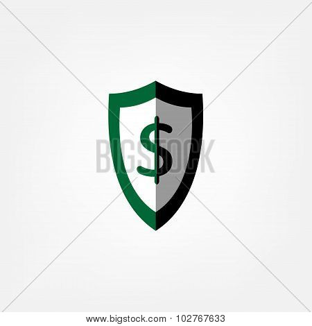 Shield And A Dollar Sign
