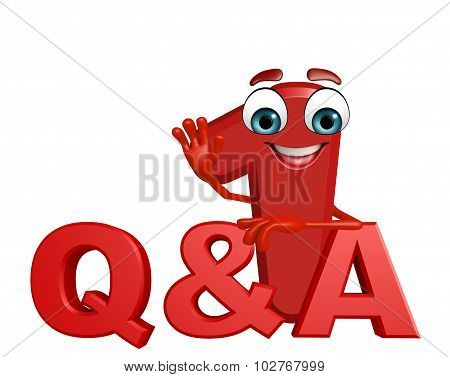 Cartoon Character Of One Digit With Q And A