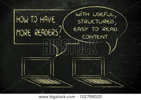 How To Have More Readers?useful, Structured, Easy-to-read Content