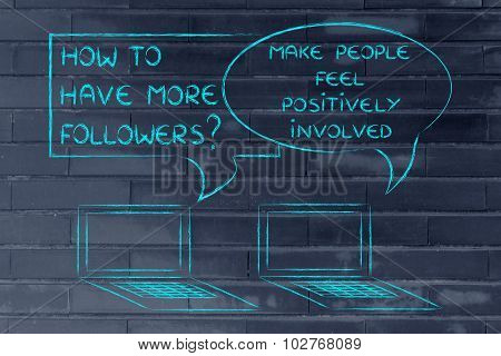 How To Have More Followers? Make People Feel Positively Involved