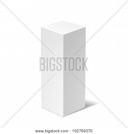 White 3D box