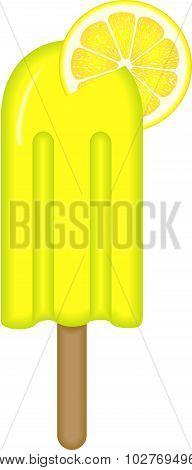 Lemon Ice Cream Stick