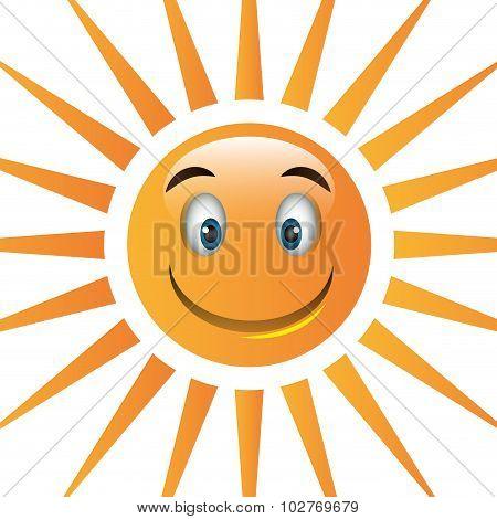 Summer sun cartoon