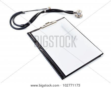 Medical Stetoscope Isolated On White