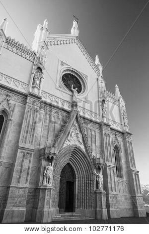 St Francesco Cathedral. Gaeta, Italy. Monochrome