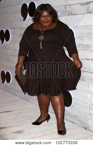 LOS ANGELES - SEP 24:  Gabourey Sidibe at the VIP Sneak Peek Of go90 Social Entertainment Platform at the Wallis Annenberg Center for the Performing Arts on September 24, 2015 in Los Angeles, CA