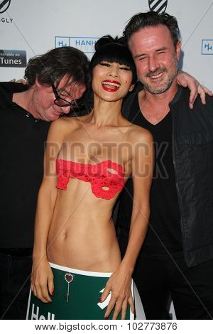 LOS ANGELES - SEP 24:  Jefery Levy, Bai Ling, David Arquette at the Hollywood Film Festival Opening Night Red Carpet at the ArcLight Theater on September 24, 2015 in Los Angeles, CA