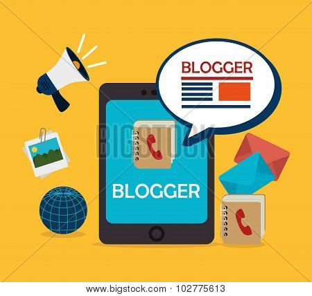 Blog and blogger social media design