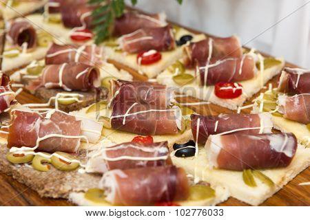 Delicious Indigenous Croatian prosciutto ham
