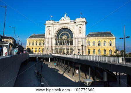 BUDAPEST, HUNGARY - SEPT 20, 2015: Budapest Keleti railway station (Hungarian: Budapest Keleti palyaudvar) Opened August 16, 1884.