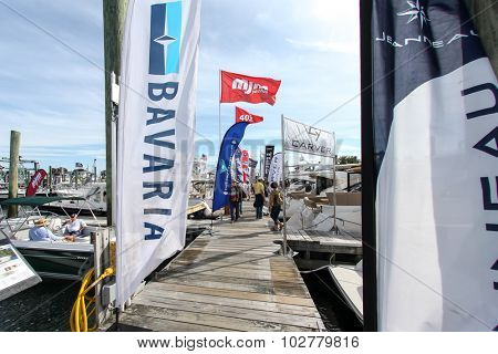 NORWALK, CT - SEPTEMBER 25: Norwalk Boat Show at Norwalk boat show in September 25, 2015 in Norwalk, CT.