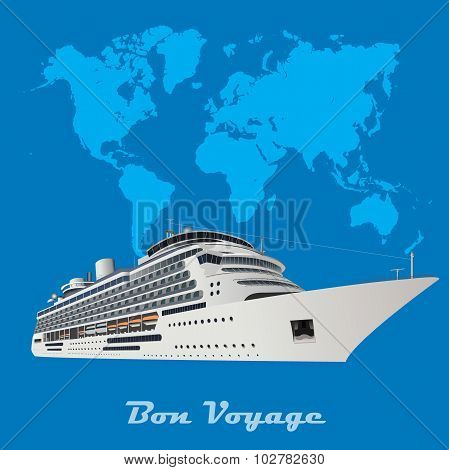 cruise ship, travel concept, vector illustration in flat design for web sites, Infographic