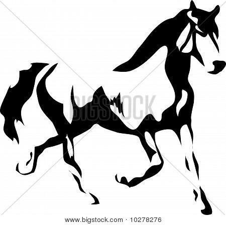 Contour of a running horse