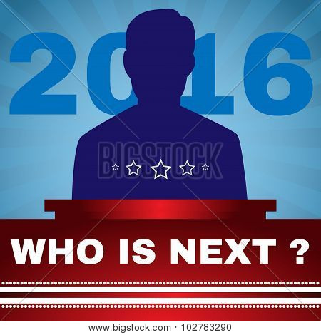 Election 2016 Who Is Next President Banner