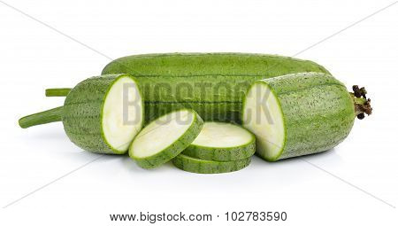 Sponge Gourd On White Background