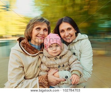 generation Mother, daughter and granddaughter