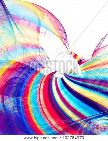 Art Colorful Textured Background In Rainbow Colors On White