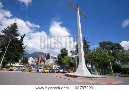 This cross is located in La Carolina park and it was constructed for the popes visit to Quito 1982