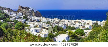 beautiful Greek islands - Nisyros (Dodecanese) panorama of Mandr