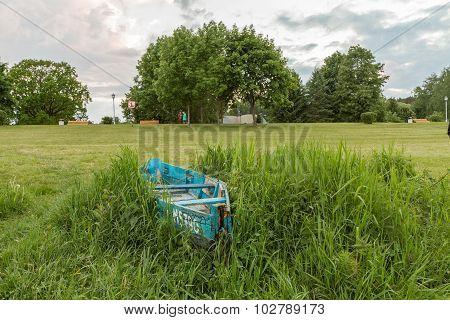 Boat Left In Grass