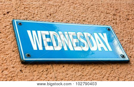 Wednesday blue sign