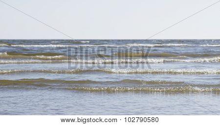 waves on sea coast in 60fps slow motion