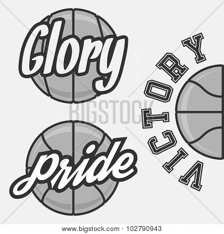 Set of Basketball Team Logos