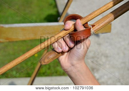 Hand Holding Atlatl