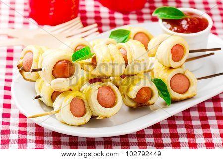 Sausage Rolls On Skewers