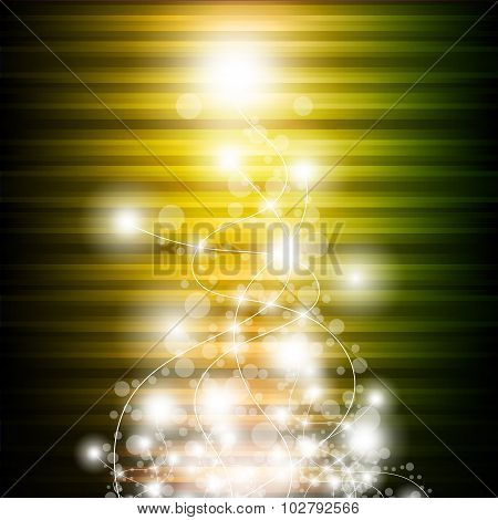 Abstract Festive Colorful Bokeh Background. Vector Illustration