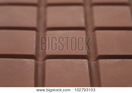 bar of chocolate ganache closeup