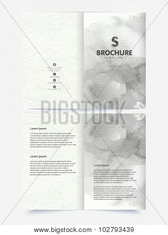 Creative abstract Brochure, Template or Flyer design with front and back side presentation.