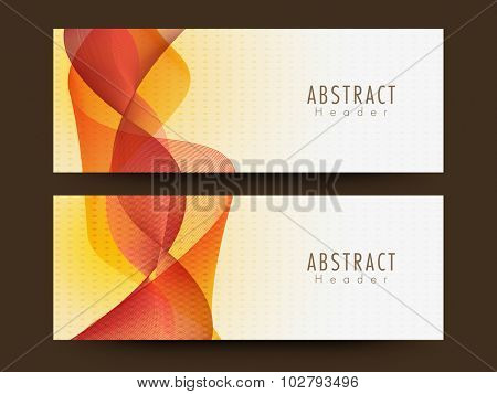 Webiste header or banner set with creative Abstract waves.