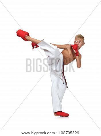 Boy  Training Karate