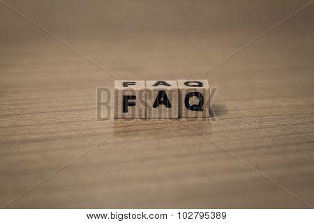 Faq In Wooden Cubes