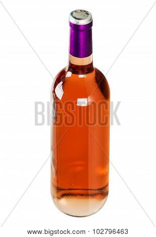 Bottle With Pink Wine