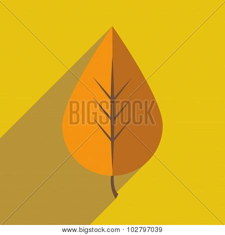 Flat with shadow icon and mobile application foliage