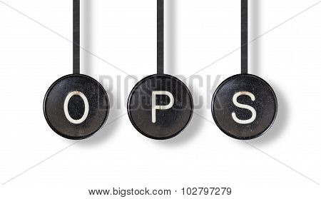 Typewriter Buttons, Isolated - Ops