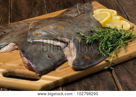 Fresh Flounder Prepared For Cooking