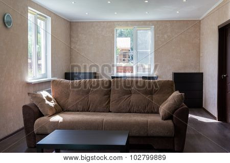 Sofa In Living Room Of A Country House